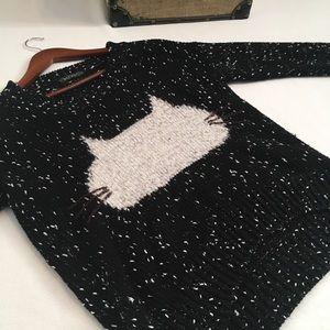 QED London Knit Cat Sweater